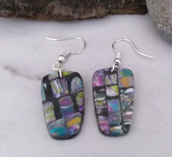 """Recycled Magazines"" Earrings set"