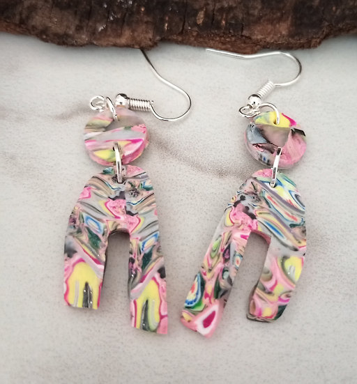 Not Poured Rainbow Earrings!