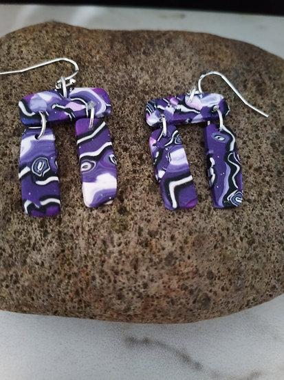 Inuksuk Violet Skies Earrings