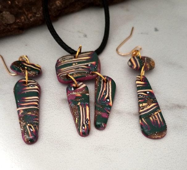 Safari Stripes Necklace set