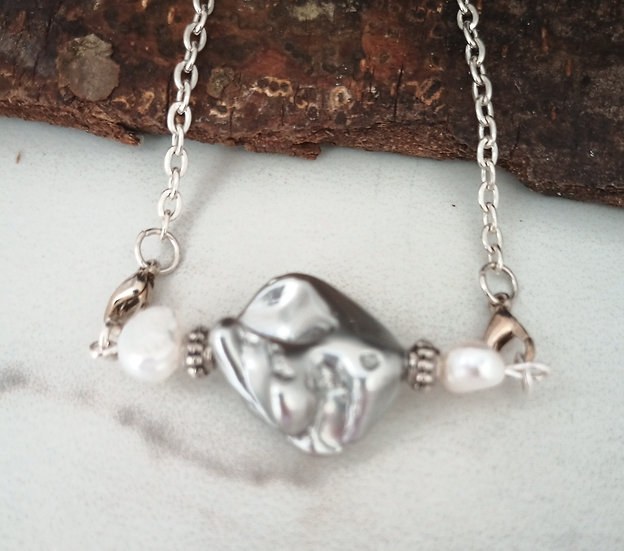 """Gray """"Nucleated"""" Freshwater Pearl"""