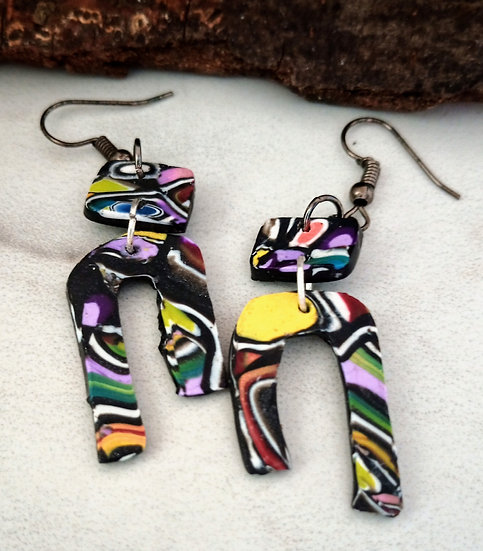 Colorful Graffiti Earrings