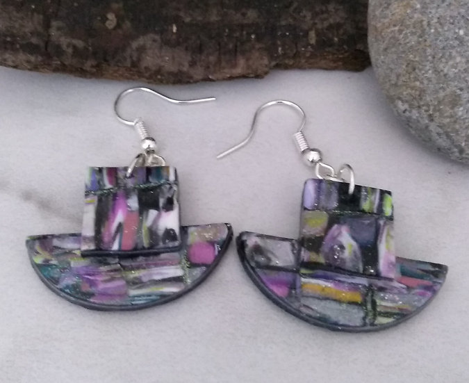 """""""Recycled Magazines Modern Earrings"""
