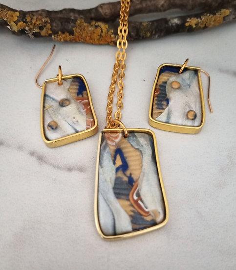 Modern Pattern Necklace set