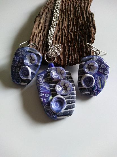 3D Flower Necklace set