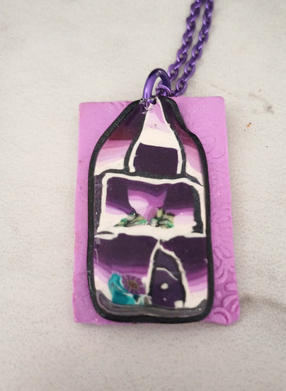 Purple House Pendant
