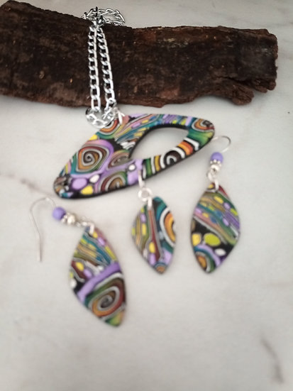 Swirls and Dots Empty Spaces Necklace set
