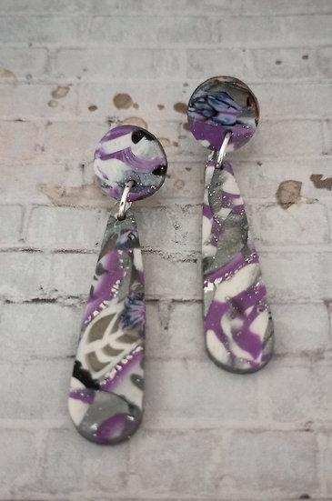 Metallic mauve Dainty Drop Earrings