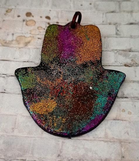 Multicolored Hamsah Ornament #2