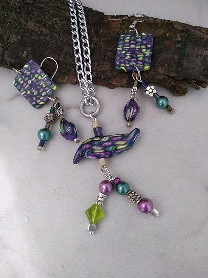 Magical Bird Necklace set