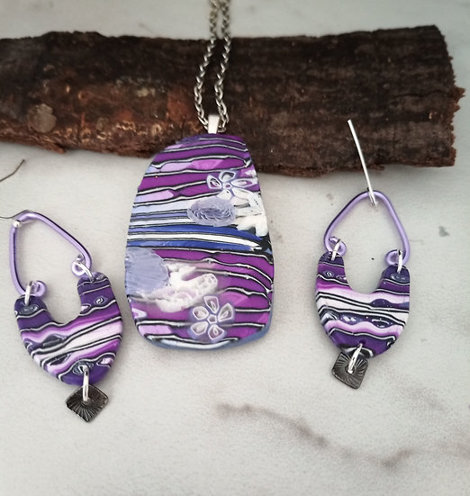 Violet Skies Necklace set