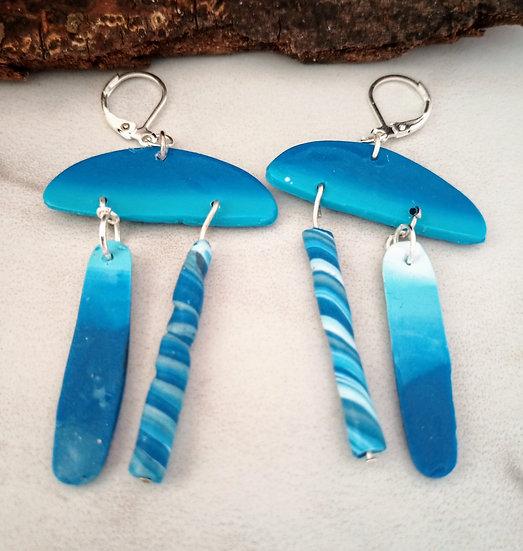 """BLU """"Surfing"""" Earrings"""