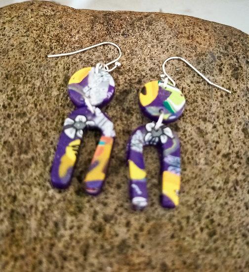 Mexican Soul, Mini U Earrings