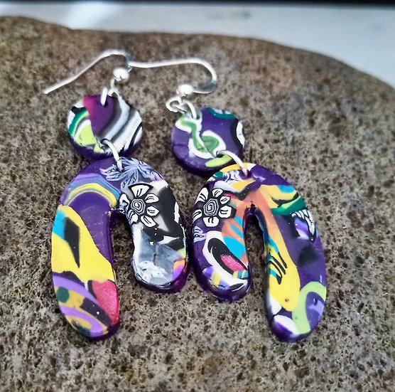 Mexican Soul Asymmetrical U Earrings