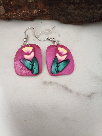 Peach Tube Earrings