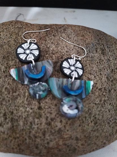 See Through Half Moons Earrings