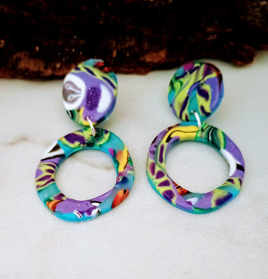 Tropical Paradise Round-ish Earrings  #2