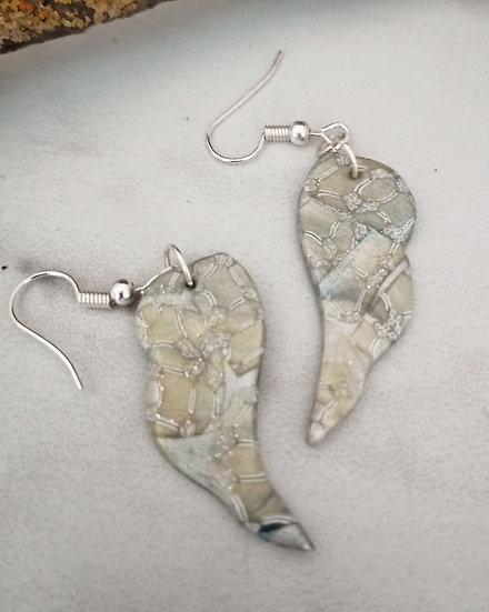 Art Deco Wing Earrings