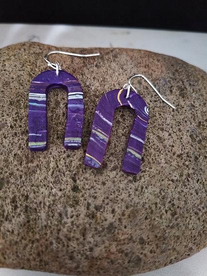 Purple with an attitude U Earrings