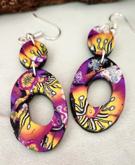 Alegria II  Oval Earrings set #2