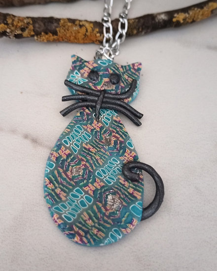 Ocean tiles Cat Pendant