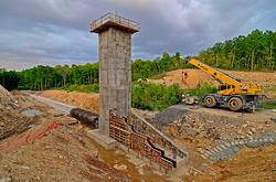 Goodrich Lake Dam Construction