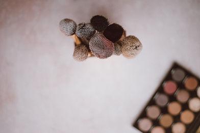 Kit de maquillage avec des brosses