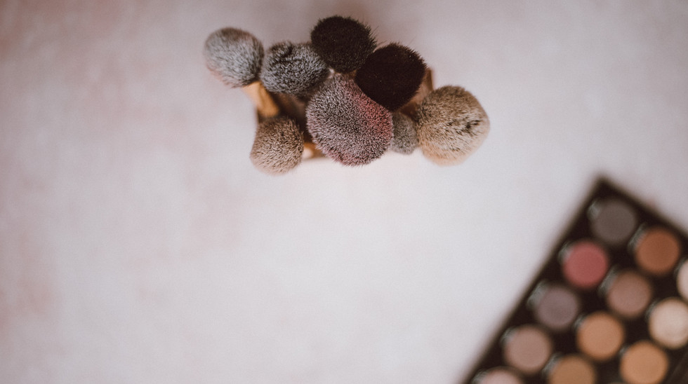 Kit de maquiagem com pincéis