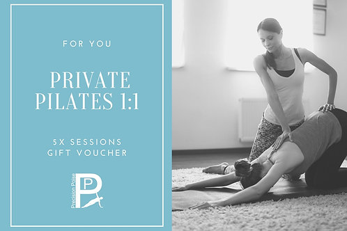 Gift Voucher: Private 1:1 Pilates 5x Sessions