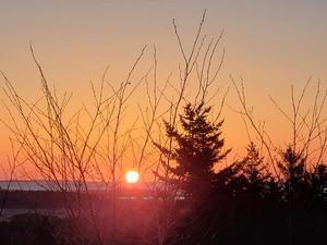 Sunrise at Morse Mountain