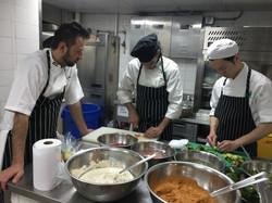 Chef Tarek Alali with his team