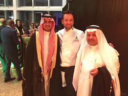 Chef Tarek Alali at KSA national day