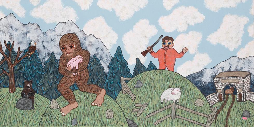 Bigfoot Steals Teddy Roosevelt's Favorit