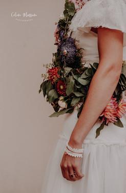 "Robe Dahlia et Echarpe de fleurs ""Fleurs de Vie - Carole"""