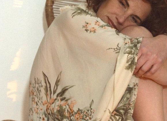 Kimono Jungle bordé d'un galon frangé