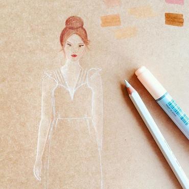 Dessine-moi ma robe de mariée