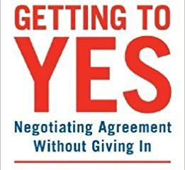Book of the Month: Getting to Yes by Roger Fisher & William Ury