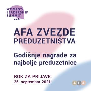 AFA dodeljuje godišnje nagrade za najuspešnije i najinovativnije preduzetnice