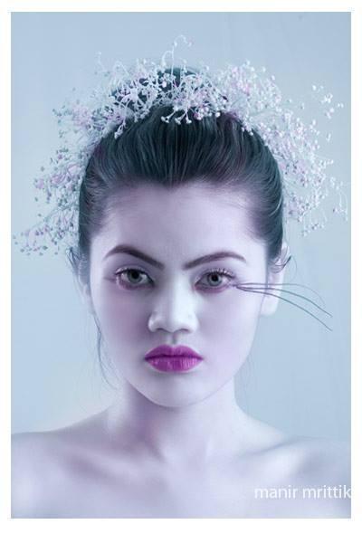 Makeup _ Salma uma _Photo _manir mrittik _Model_ Linda Liu