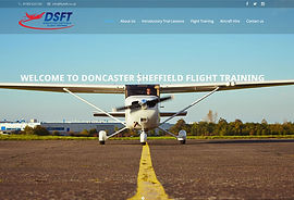 Picture of a small plane from Doncaster Sheffield Flight Training.
