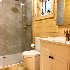 Swan Lodge ensuite with large walk in shower