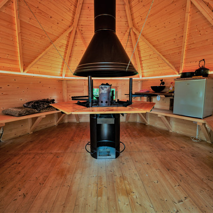 BBQ cabin interior
