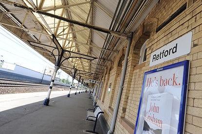Picture of the platform at Retford train station.