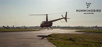 Helicopter from Hummingbird Helicopters.