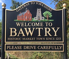 Welcome to Bawtry - historic market town since 1213 sign,