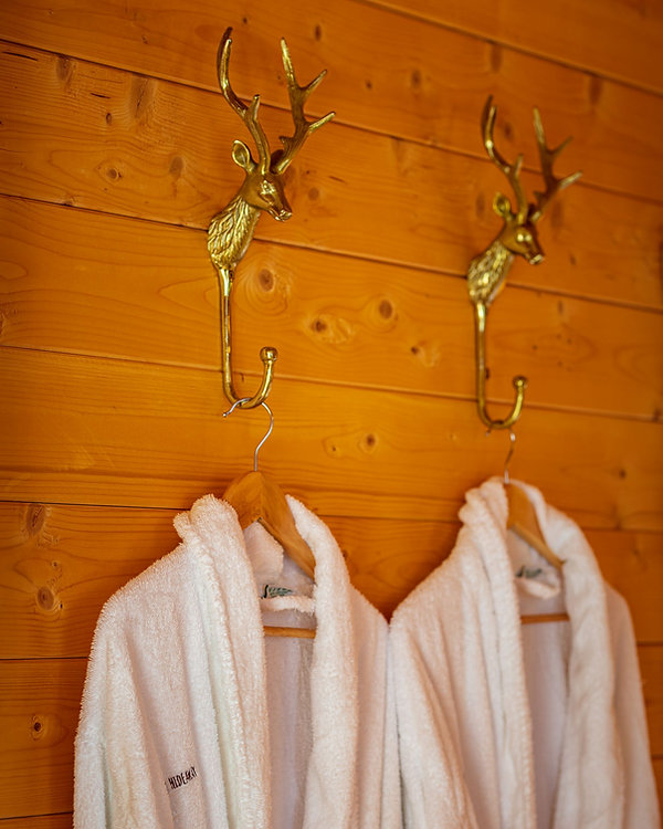 Reindeer dressing gown hooks with Hawthorn Hideaway Dressing Gowns