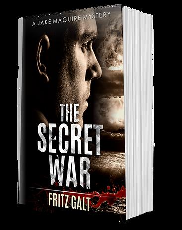 The Secret War Standing-Paperback mockup