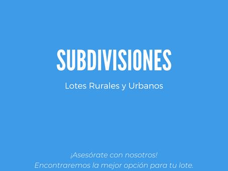 Subdivisión rural ó urbana