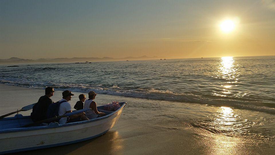 Sunrise, Boat, family, beach, cabo experiences, cabo villas, villas in cabo, cabo luxury villas, unique cabo eperiences