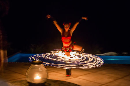 villa experience, cabo experiences, bespoke cabo experiences, cabo villas, villas in cabo, cabo luxury villas, naay travel, experience designers, fire show, private show in villa.